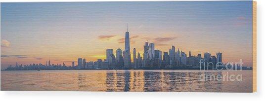 Manhattan Panorama  Wood Print