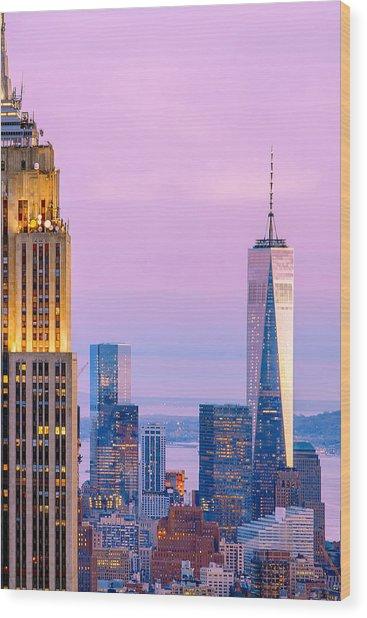 Manhattan Romance Wood Print by Az Jackson