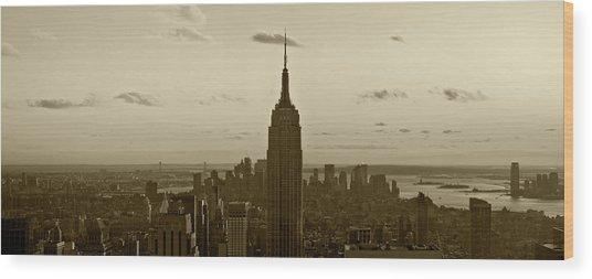 Manhattan Sky View Wood Print