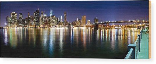 Manhattan Skyline - Southside Wood Print