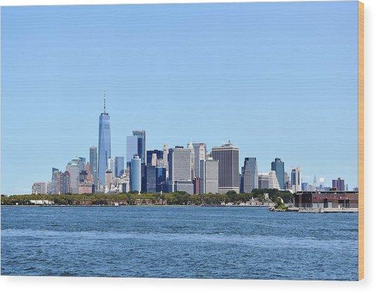 Manhattan Skyline 1 Wood Print