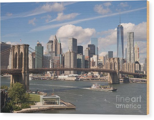 Manhattan Skyline Wood Print by Bryan Attewell