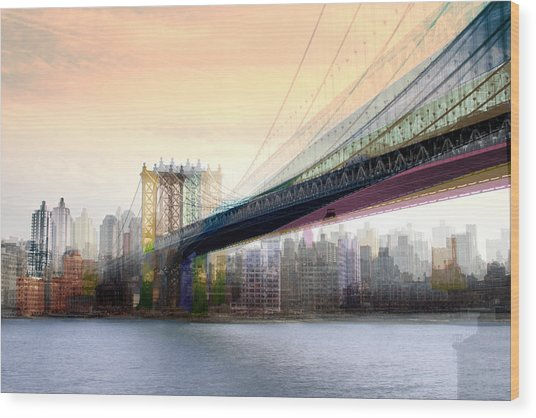 Manhattan X3 Wood Print