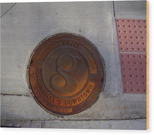 Manhole I Wood Print