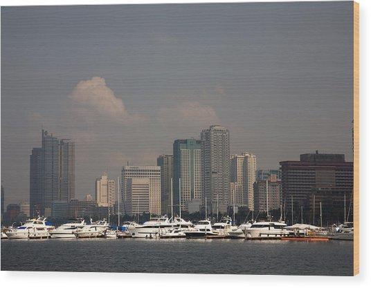 Manila Bay.  Wood Print