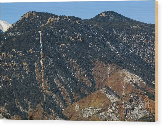 Manitou Incline Photographed From Red Rock Canyon Wood Print