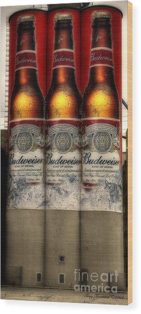 Manitowoc Bud Wood Print