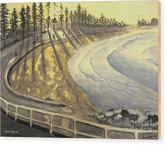 Manly Beach Sunset Wood Print