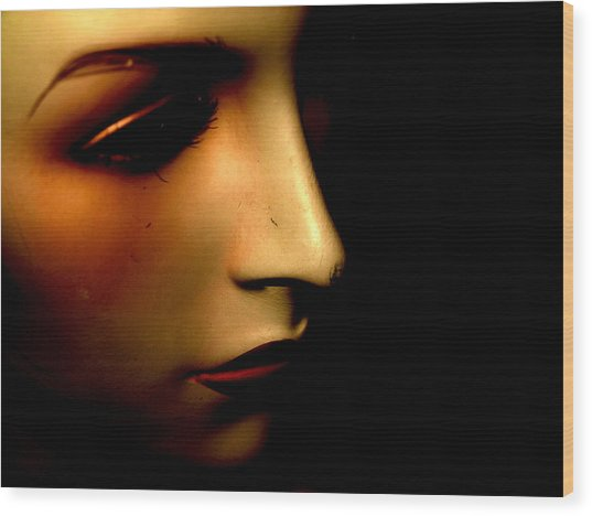Mannequin Wood Print by Angela Conway