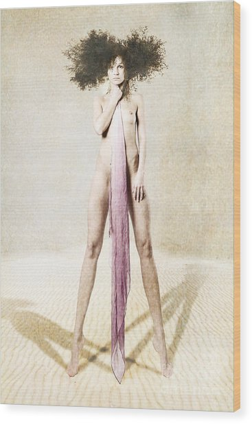 Mannequin Wood Print by Zygmunt Kozimor