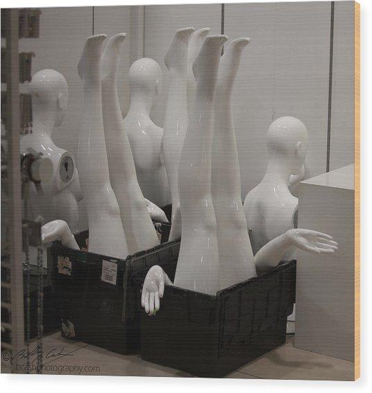 Mannequins Wood Print