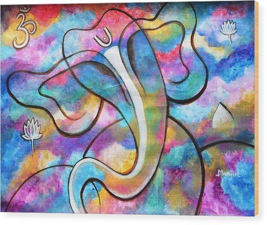 Manomay-ganesha  Wood Print