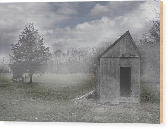 Manor Road Farm Wood Print