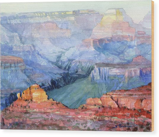 Wood Print featuring the painting Many Hues by Steve Henderson