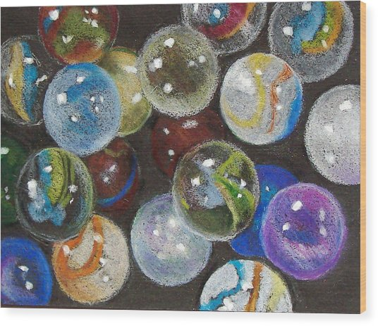 Many Marbles Wood Print by Joyce Geleynse