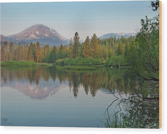 Manzanita Lake Wood Print