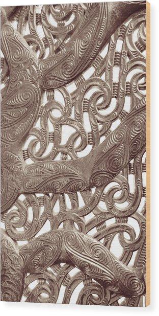 Maori Abstract Wood Print
