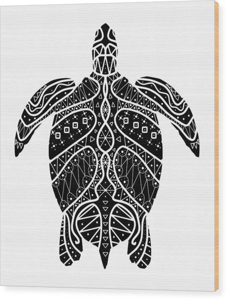 Maori Turtle Wood Print