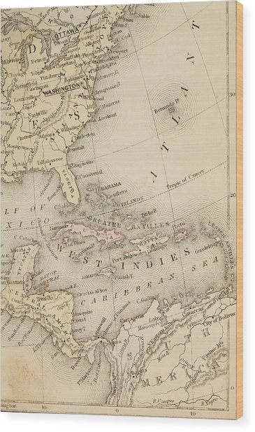 Map Wood Print