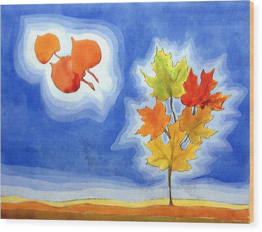 Maple Fall Wood Print
