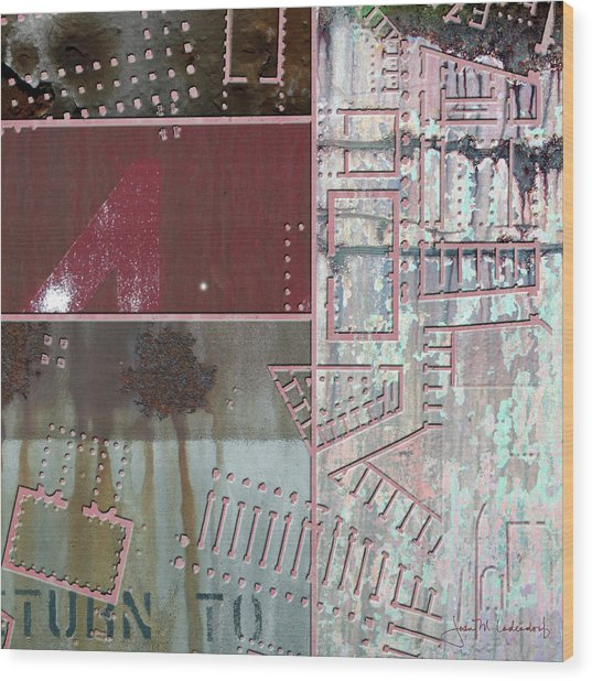 Maps #17 Wood Print