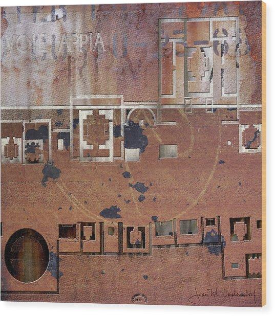 Maps #19 Wood Print