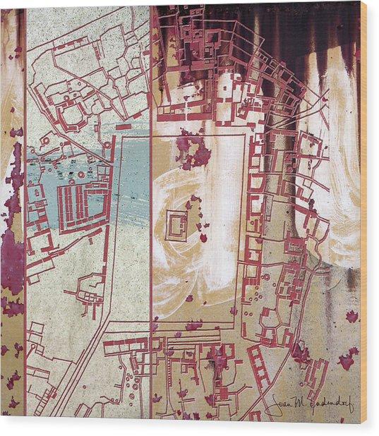 Maps #27 Wood Print