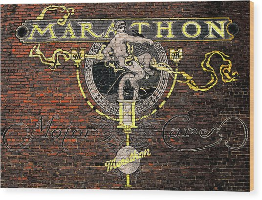 Marathon Motor Cars Wood Print by Joseph Sassone