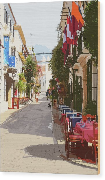 Marbella, Andalusia - 03 Wood Print by Andrea Mazzocchetti