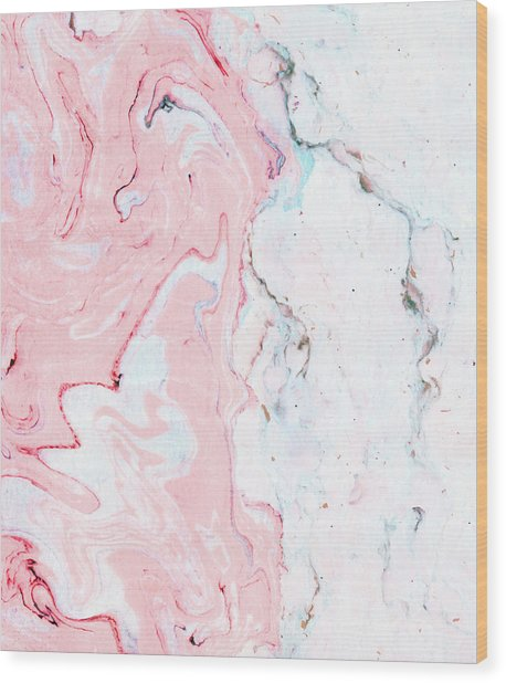 Marble Love Wood Print