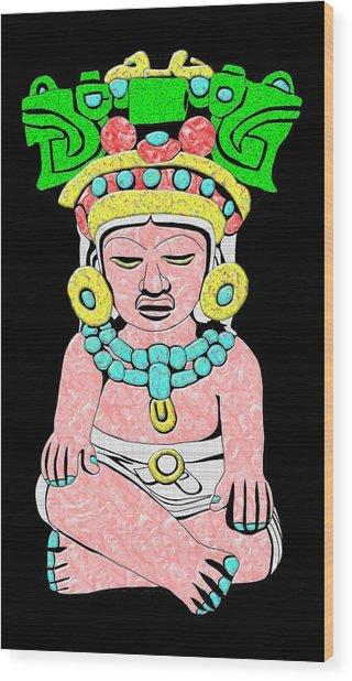 Marble Maya Wood Print