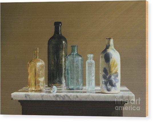 Marble On Marble Wood Print by Barbara Groff