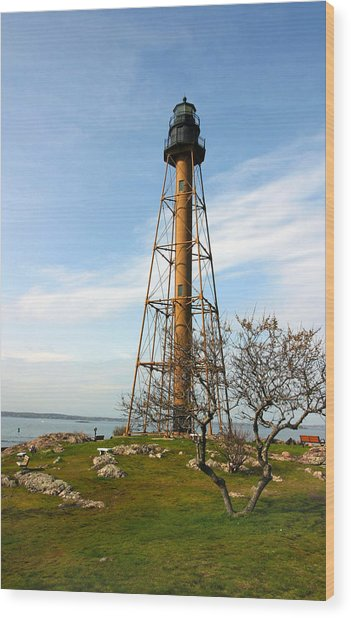 Marblehead Light Wood Print