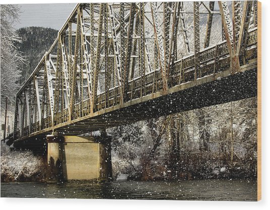 Marblemount Wa Bridge Wood Print