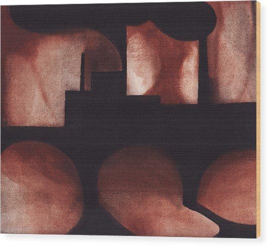Marcal Abstract Wood Print