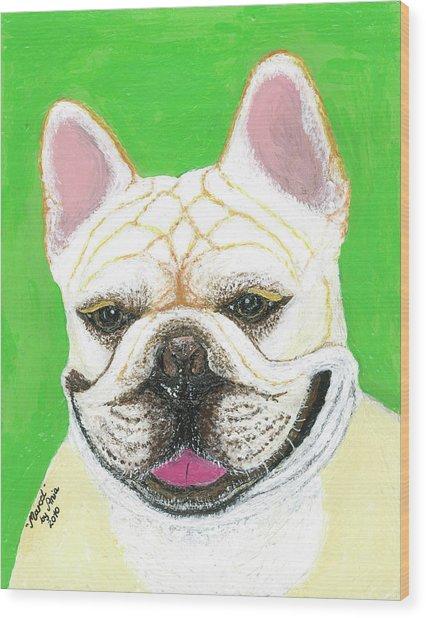 Marcel French Bulldog Wood Print