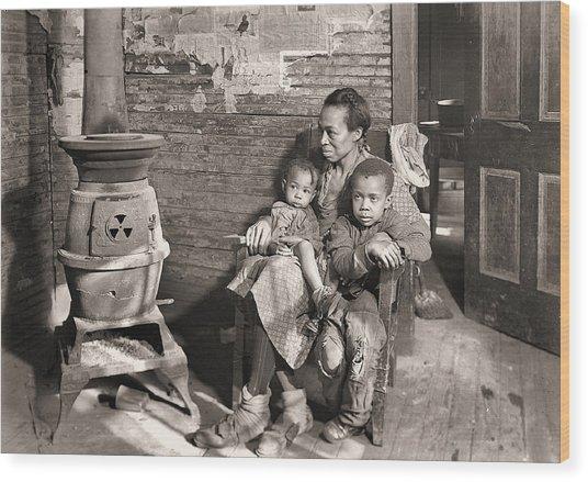 March 1937 Scott's Run, West Virginia Johnson Family. Wood Print
