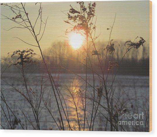 March 2 2013 Sunrise Wood Print