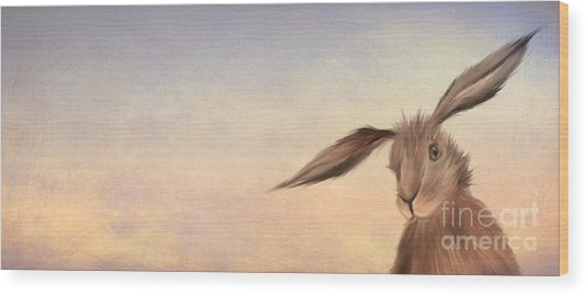 March Hare Wood Print