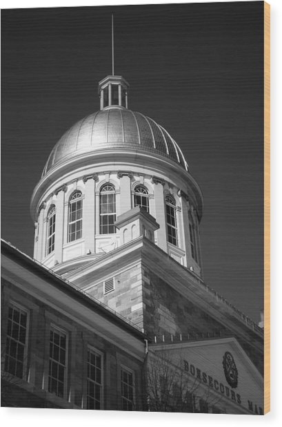 Marche Bonsecours  Wood Print