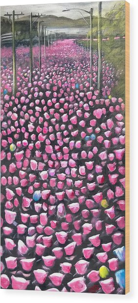 Marching Down Jackson Wood Print by Don Wesley