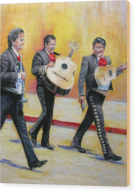 Marching Mariachi Wood Print by Carole Haslock
