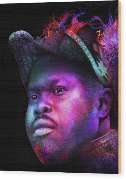 Marcus Garvey Portrait Wood Print
