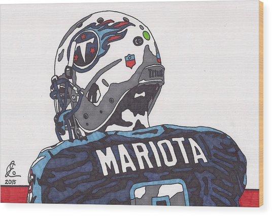 Marcus Mariota Titans 2 Wood Print