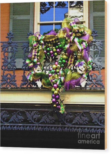 Mardi Gras Decor 1 Wood Print