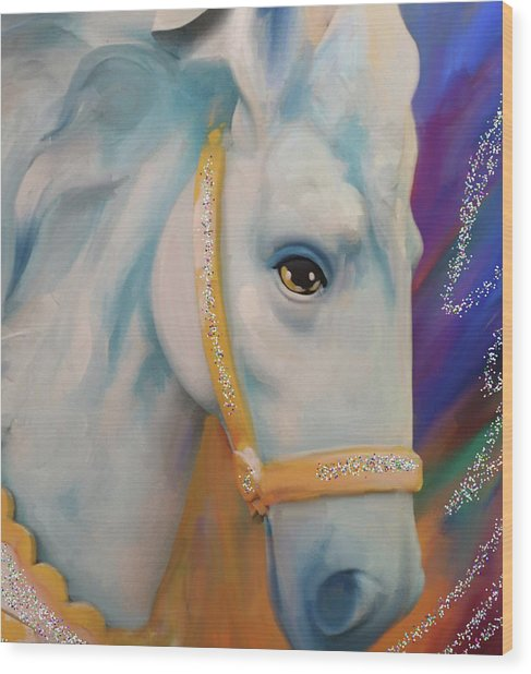 Mardi Gras Horse Wood Print