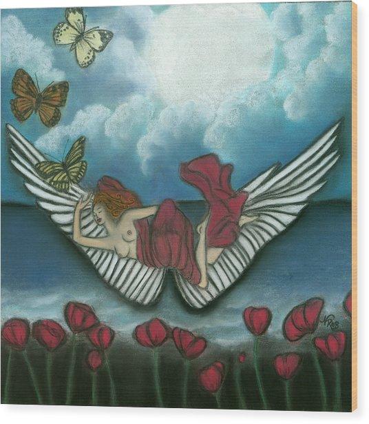 Mari Goddess Of Dreams Wood Print by Natalie Roberts
