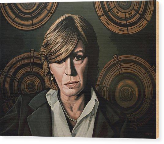Marianne Faithfull Painting Wood Print