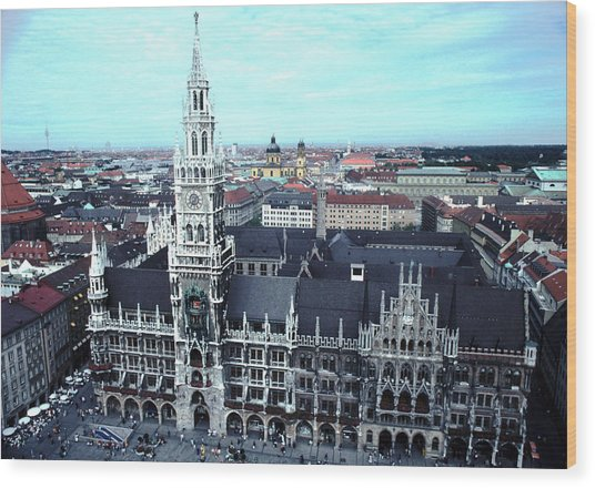 Marienplatz  City Hall Munich Wood Print