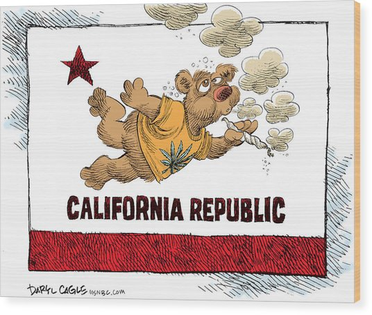 Marijuana Referendum In California Wood Print